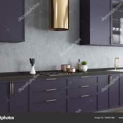 Countertops Kitchen Mexican Table 混凝土墙面厨房 紫色台面关闭 图库照片 C Denisismagilov 185281566