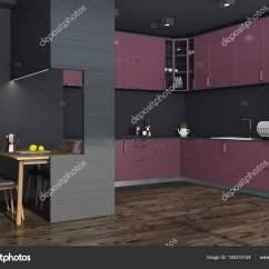 Black Kitchen Tables Gas Stoves 黑色厨房角落 红色和黑色家具 图库照片 C Denisismagilov 185316124 黑色厨房角落与黑暗的木地板和暗红色台面 一张带椅子的黑色桌子 3d 渲染模拟 照片作者denisismagilov