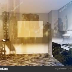 Black Kitchen Tables Table Chairs 黑色和灰色厨房内饰 海报色调 图库照片 C Denisismagilov 186325514 功能灰色和黑色厨房内部与木地板和黑色和灰色台面 一张海报 有凳子的桌子 3d 渲染模拟色调图像双曝光 照片作者denisismagilov