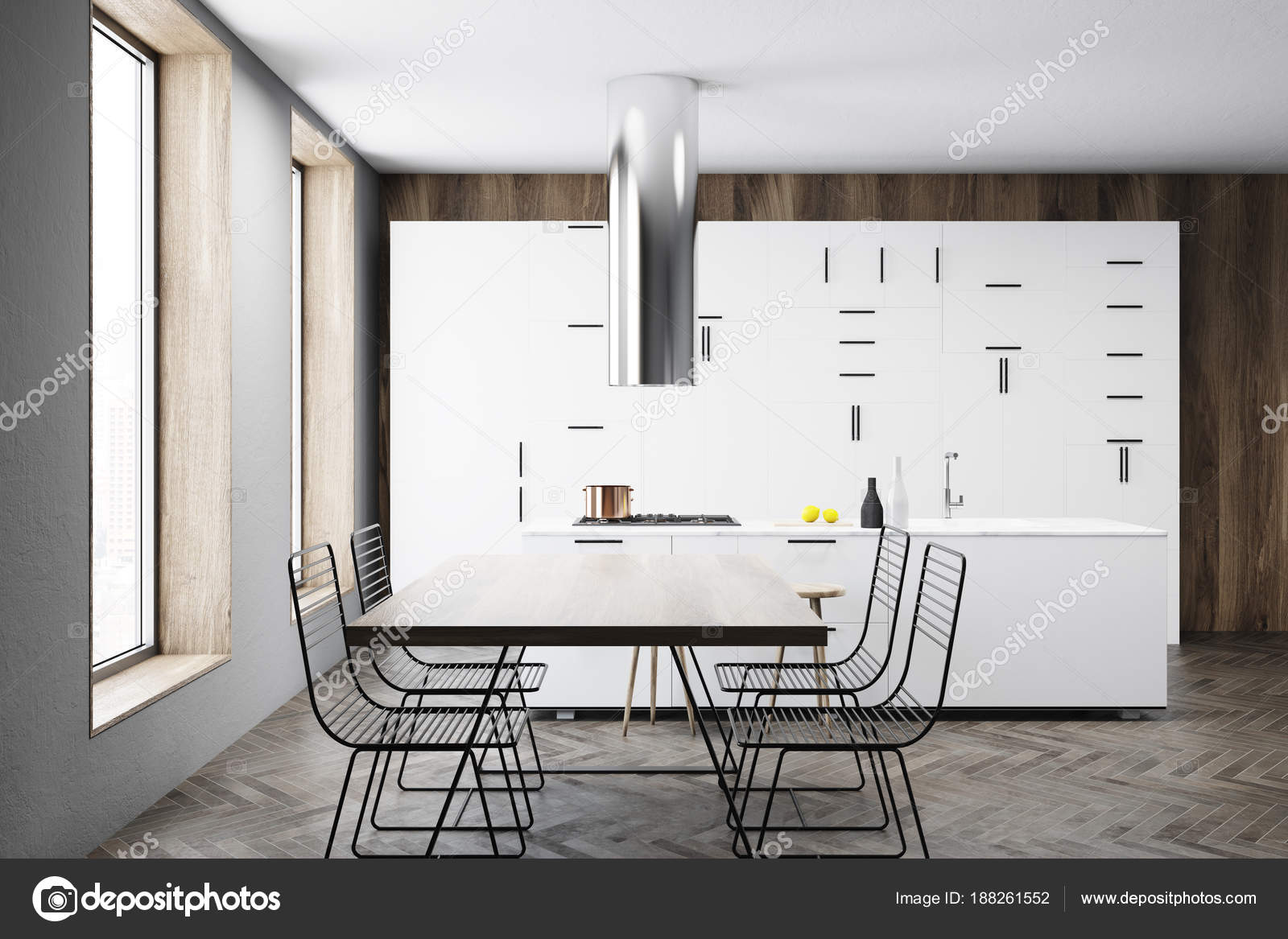 pub kitchen table decorations ideas 白色厨房内饰 酒吧和桌子 图库照片 c denisismagilov 188261552