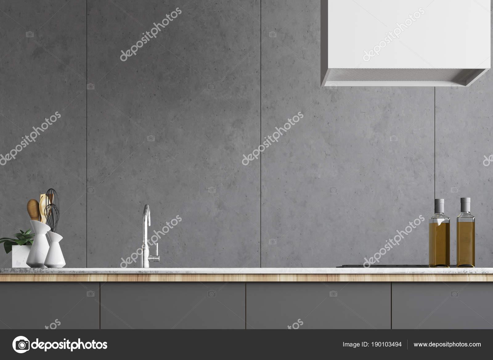 grey kitchen countertops sinks & faucets 灰色厨房台面关闭 图库照片 c denisismagilov 190103494