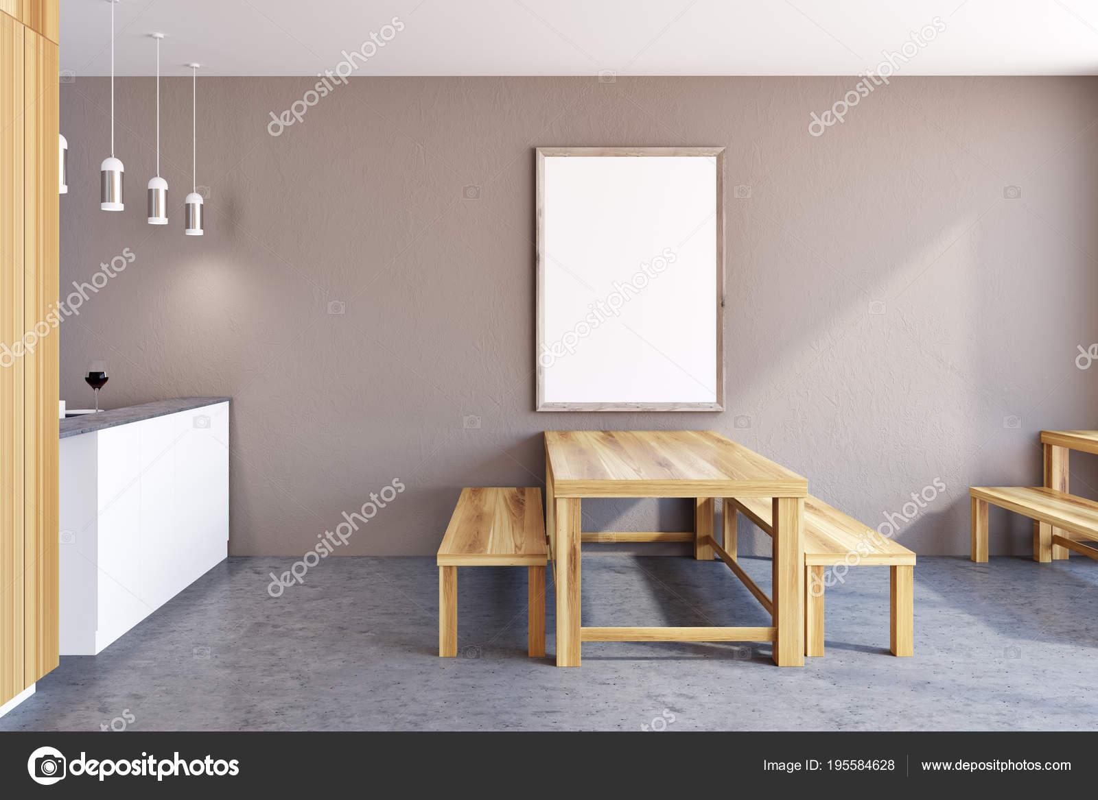 bench for kitchen table salvaged cabinets sale 乡村厨房内饰 框架海报 图库照片 c denisismagilov 195584628 乡村餐厅内部有一张巨大的桌子 两个长凳和一张竖着的框架海报在墙上 3d 渲染模拟 照片作者denisismagilov