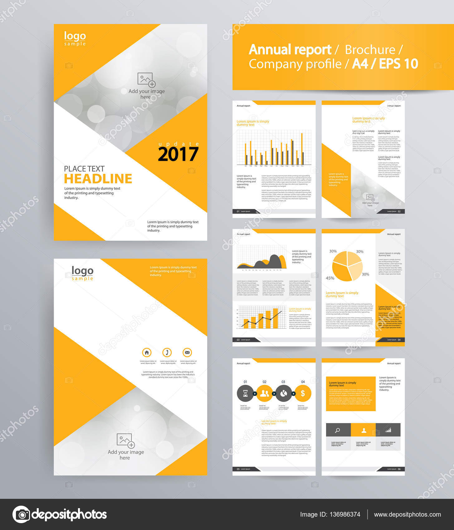 Company Profile Annual Report Brochure And Flyer Layout