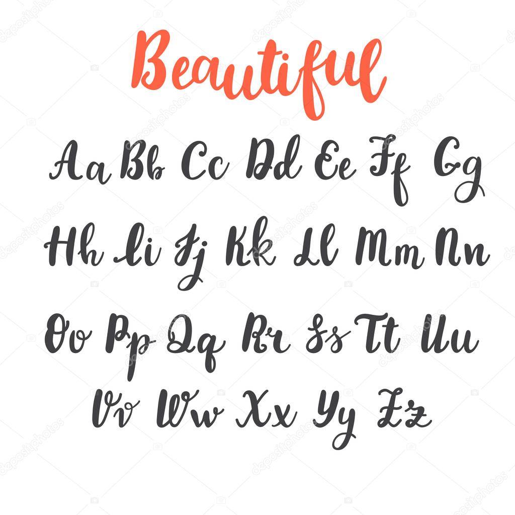 Alphabet De Main De Tirage Au Sort Lettres Majuscules Et