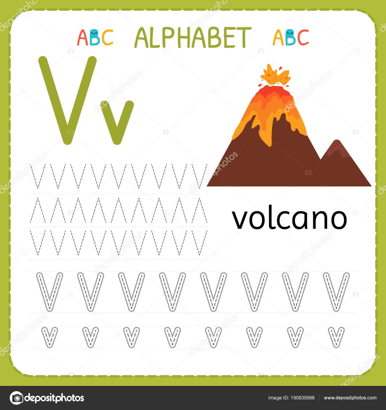 Preschool V Writing Practice Worksheets Preschool Best
