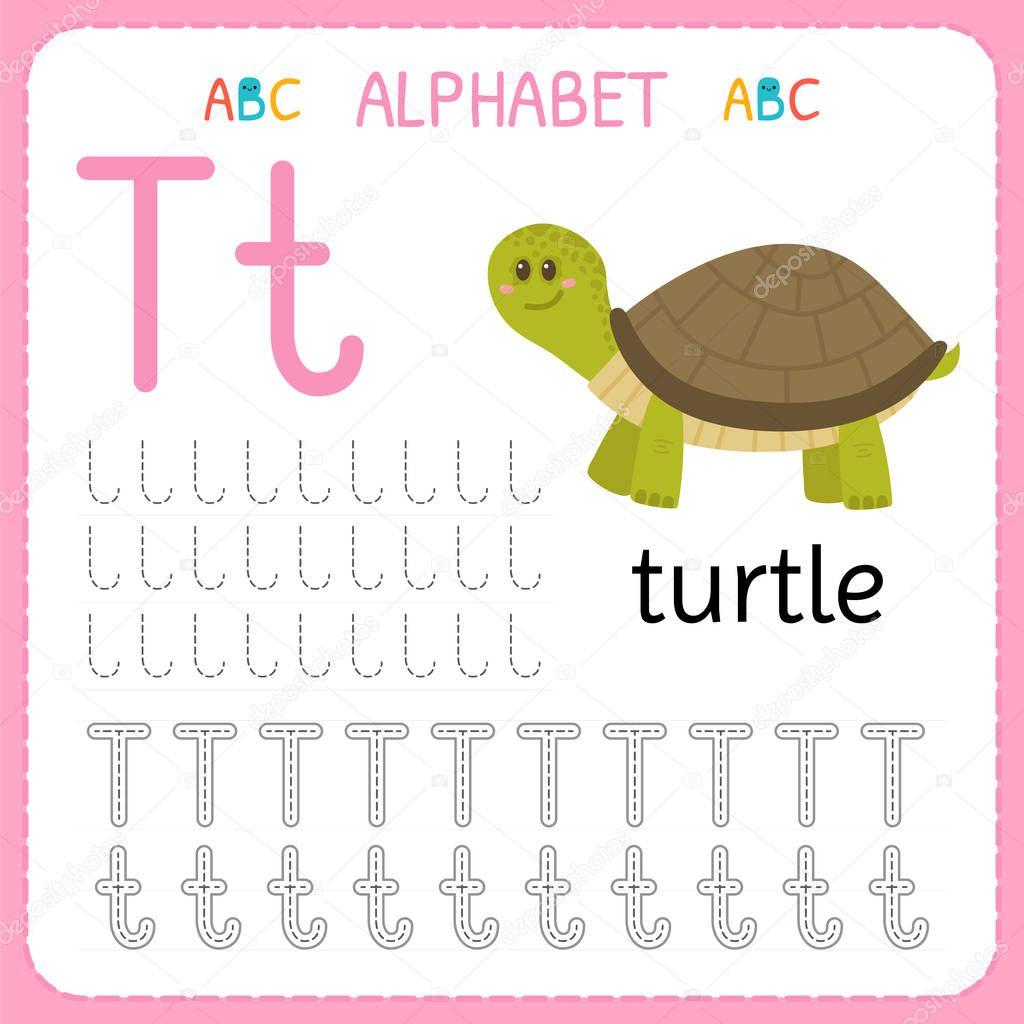 Hoja De Trabajo De Seguimiento Alfabeto Para Preescolar Y Kindergarten Letra De La Practica De