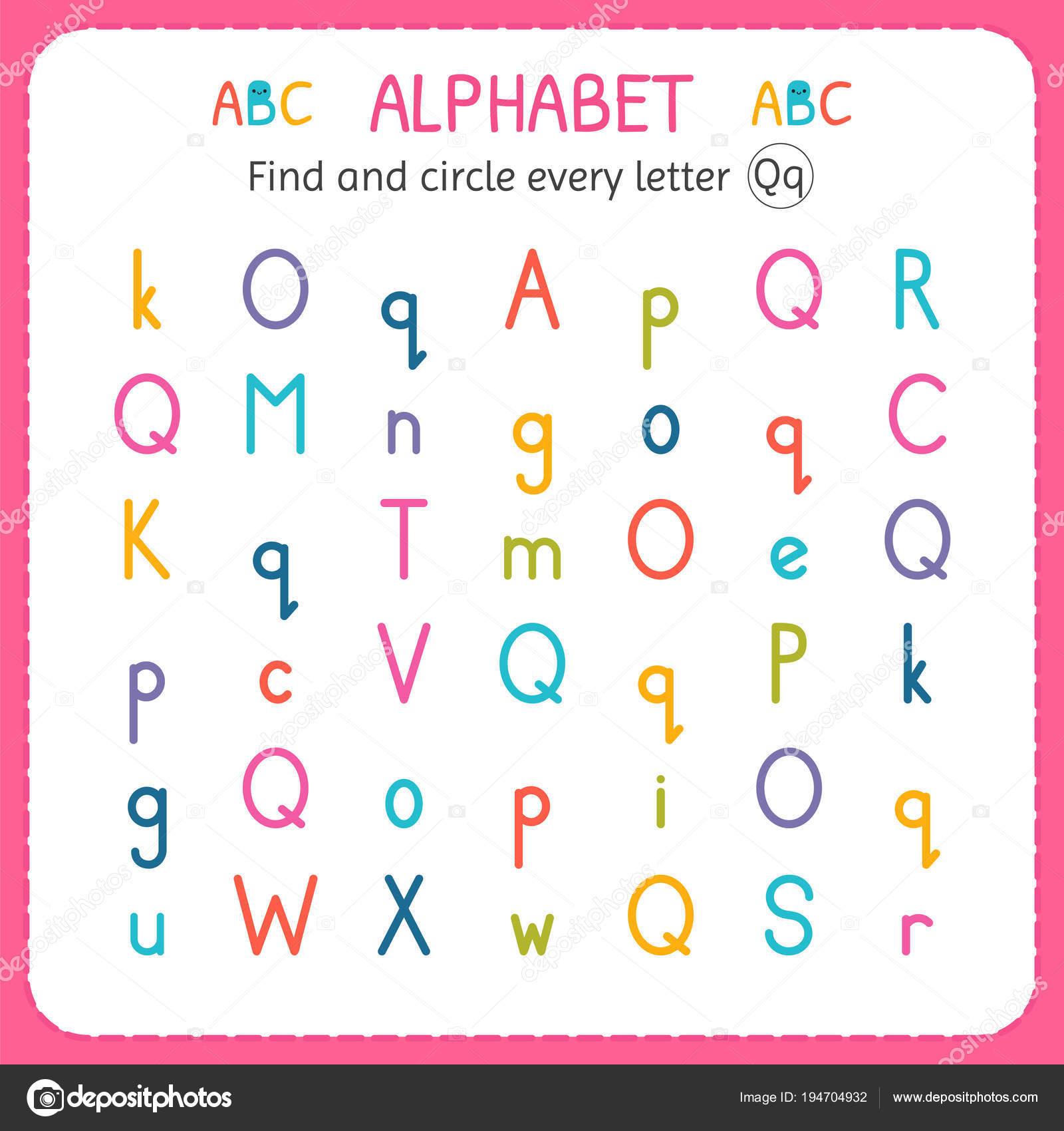 Encontrar Y Cada Letra Q Hoja De Trabajo Para Kinder Y