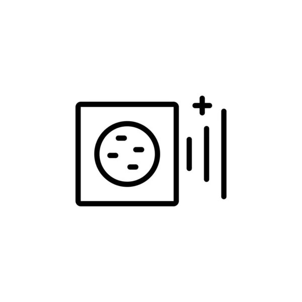 Electric outlet illustration on white background. Energy