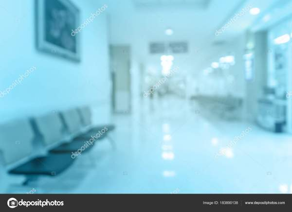 Abstract Blurred Hospital Background Patient Waiting