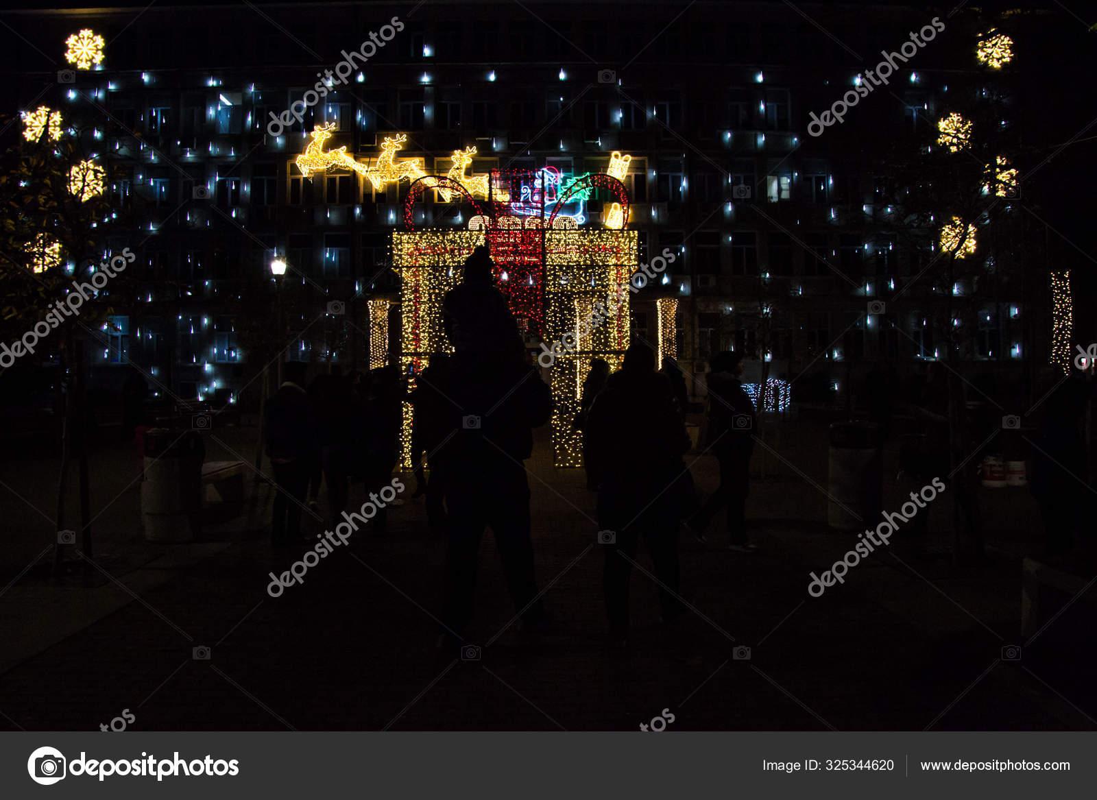 Varna Bulgaria December 2019 Colorful Christmas Decorations Lights Night New Stock Editorial Photo C Vboycheva Abv Bg 325344620