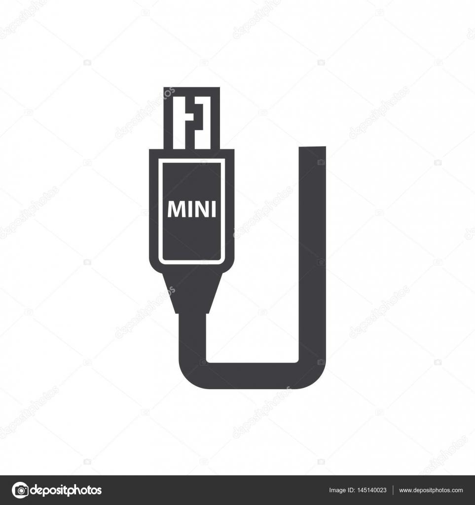 Mini HDMI Adapter Black icon — Stock Vector © foxroar