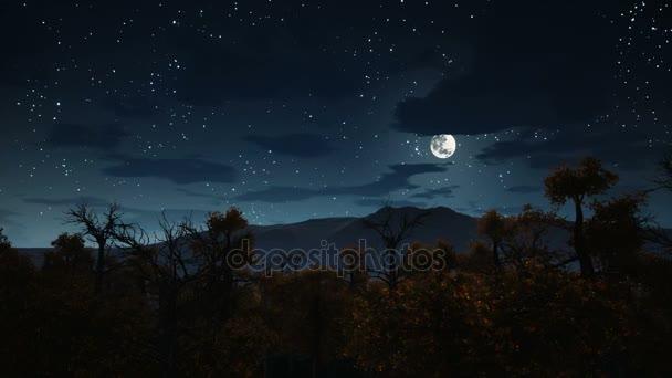 full moon over spooky