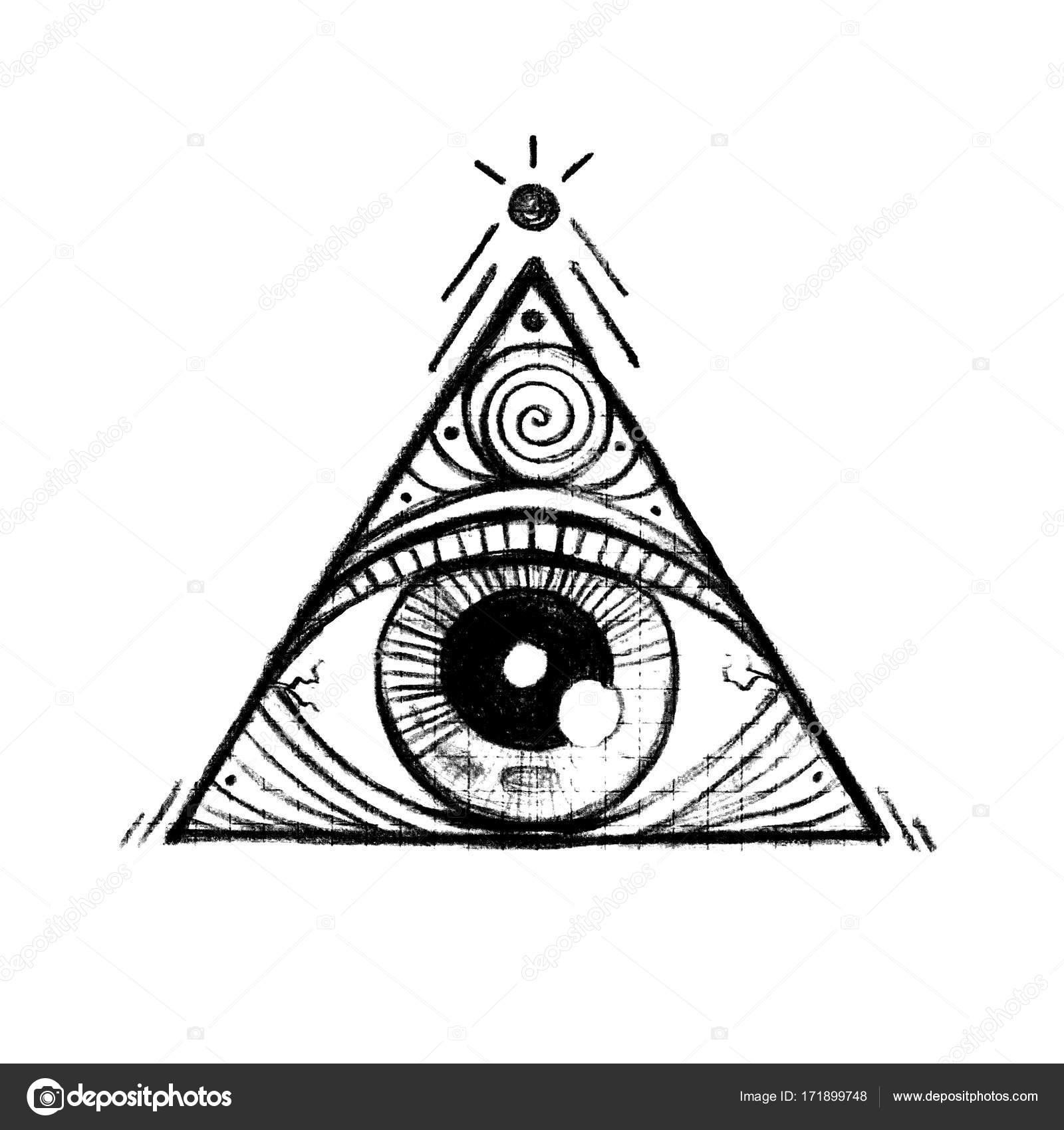Imágenes Piramide Illuminati Dibujo Una Pirámide Con Un Ojo
