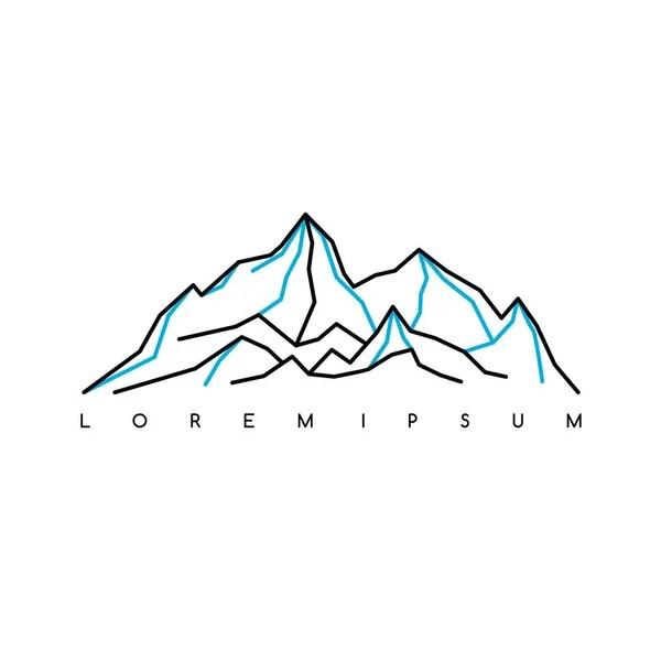 logo di montagne stilizzate  Vettoriali Stock  vectorfirst 145113329