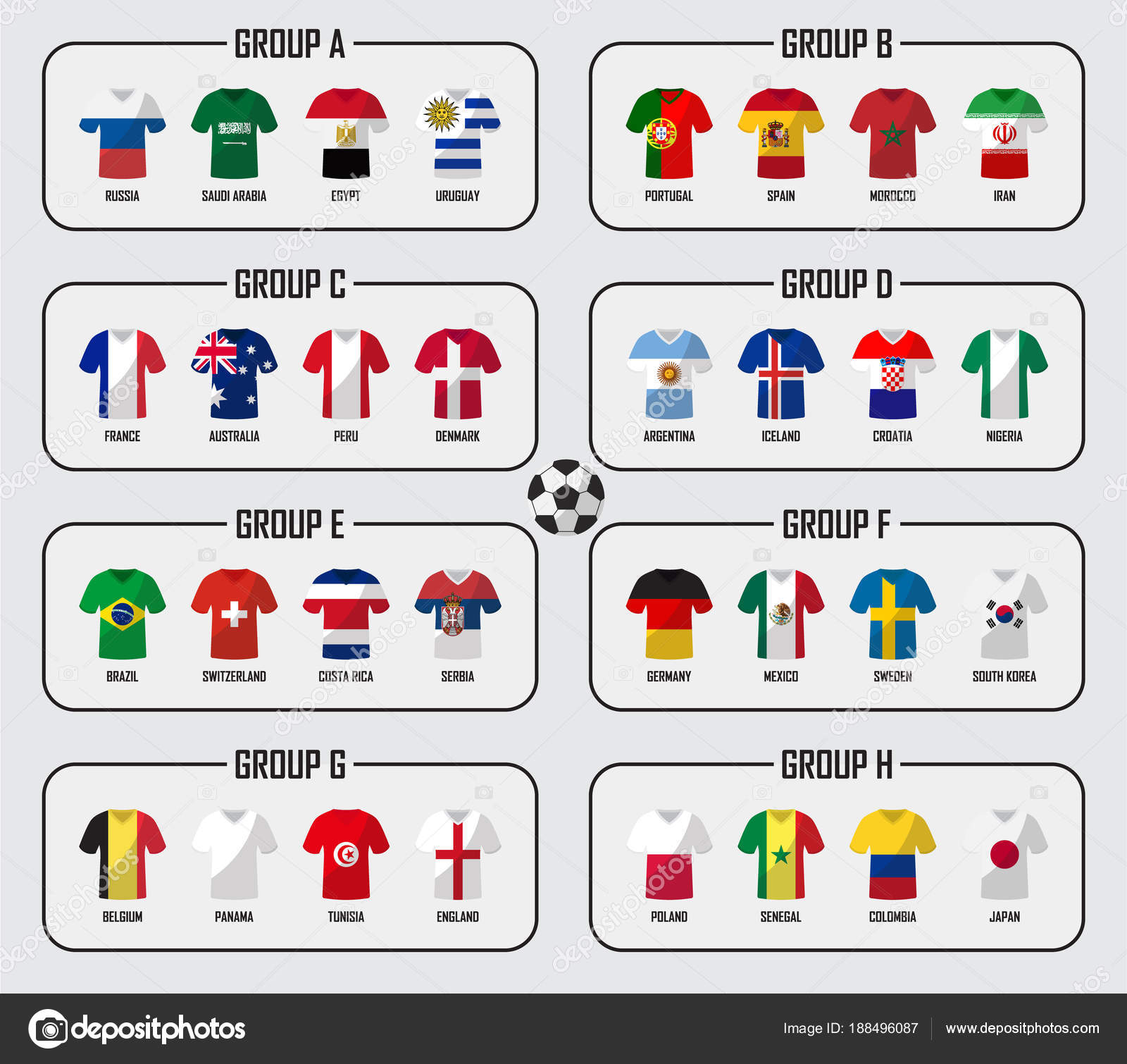 Soccer Cup Team Group Set Football Players With