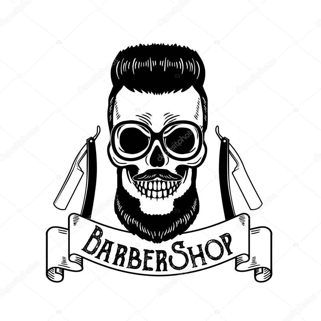 Emblema De Barberia Peluqueria Insignia O Divisa Para