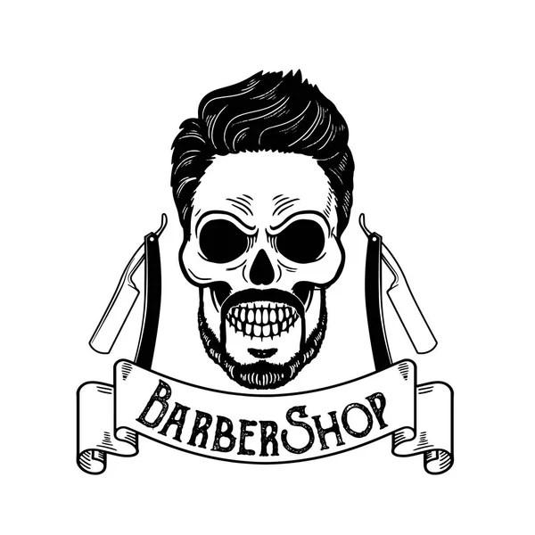 Logo For Barber Shop Stock Vector Illustration Of Beard