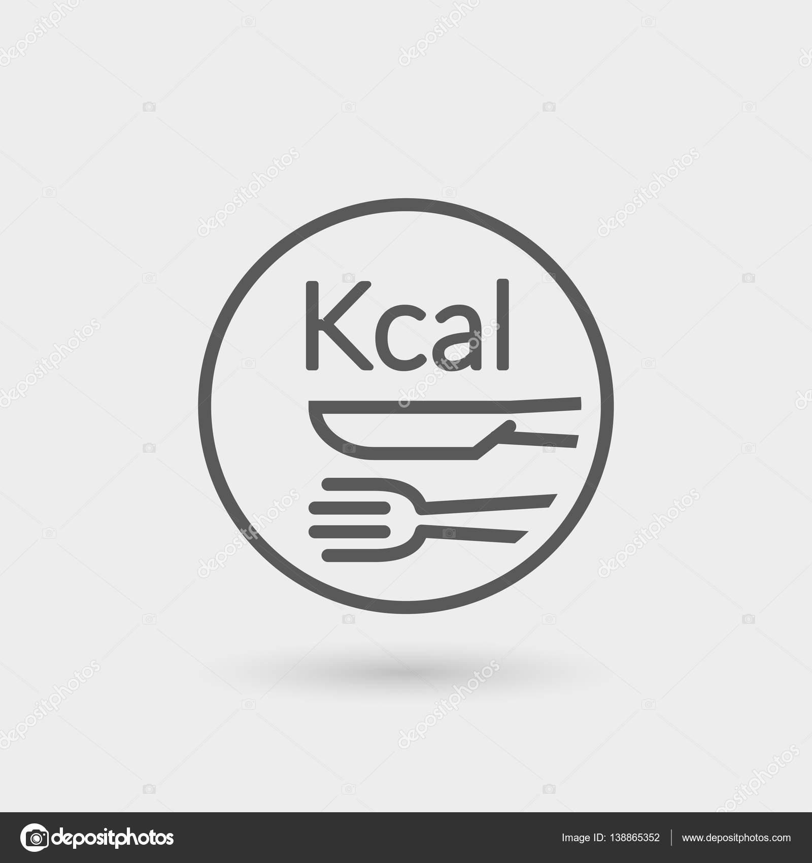 kcal thin line icon  Stock Vector  art_co 138865352