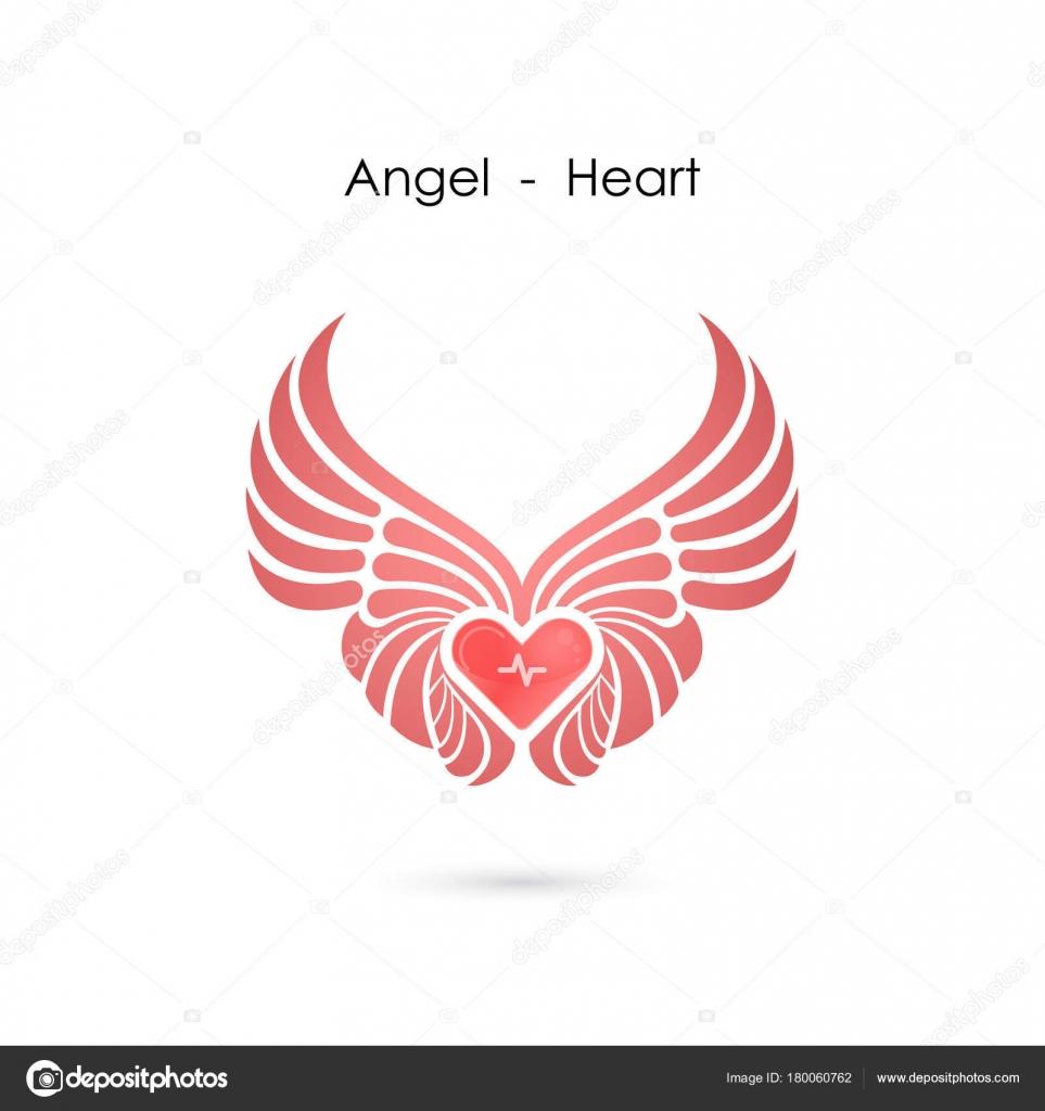heart angel wings heart