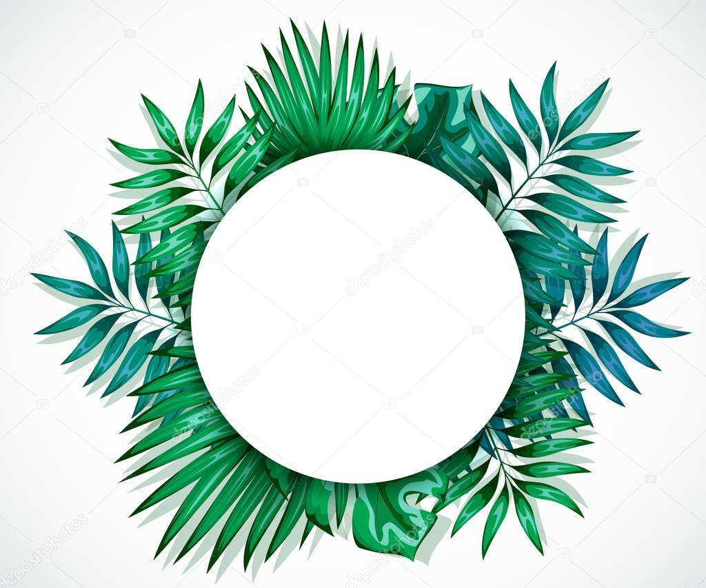Fondos selva para imprimir  Marco de la colores hojas