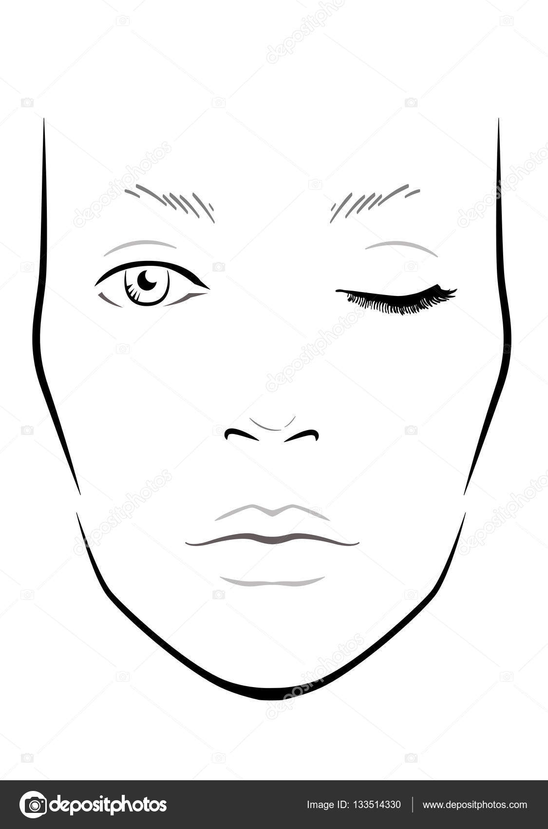 Blank Makeup Face Charts Free