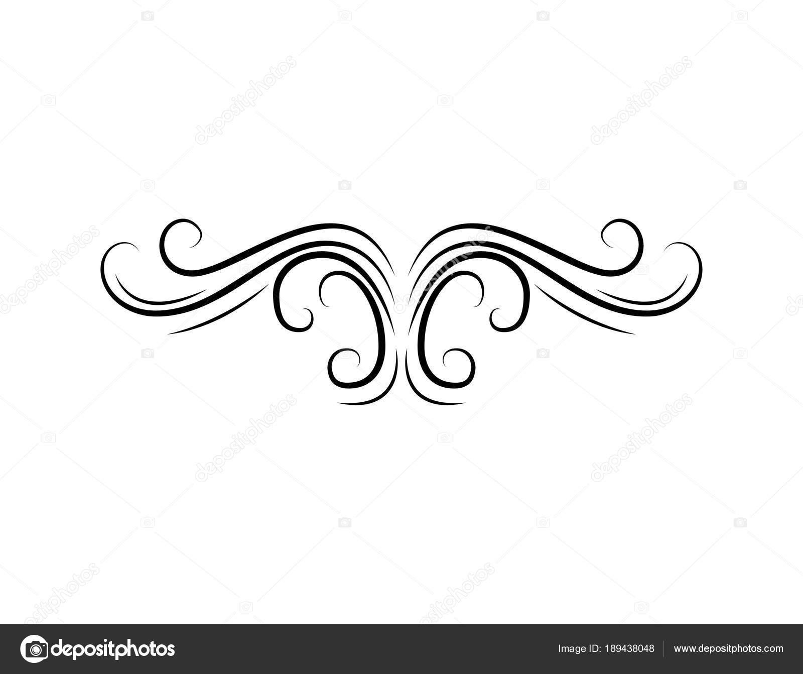 Decorative Floral Swirl Vintage Design Element Filigree