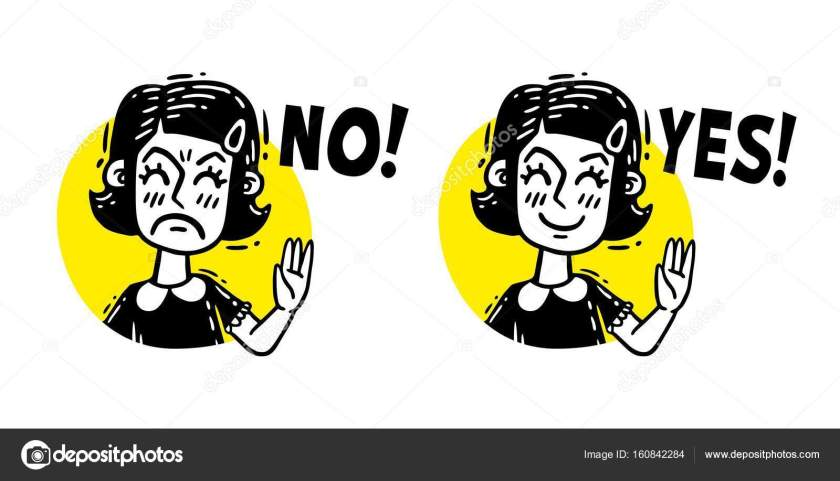 Image result for girl saying no saynig yes