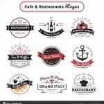 Cafe And Restaurant Logos Vintage Design Stock Vector C Macrovector 142993179