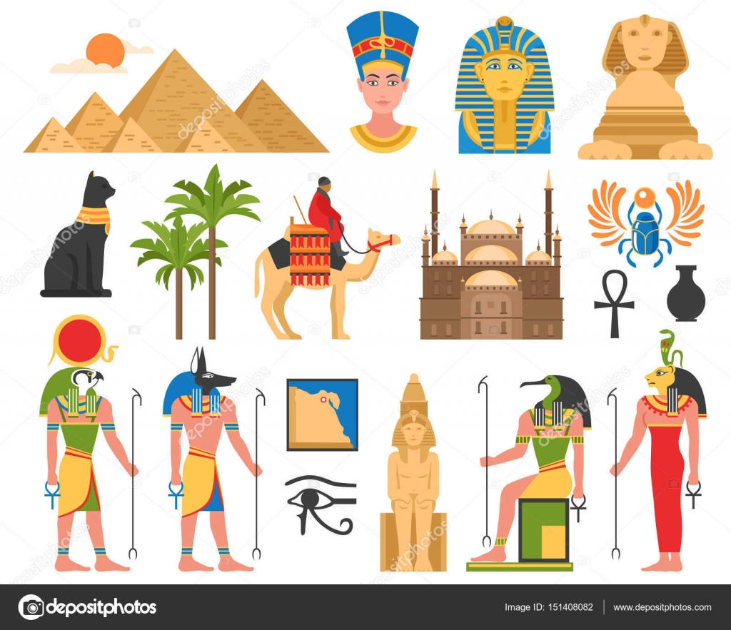 Egyptian Art Flat Collection