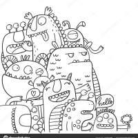 Malvorlage Niedliche Monster   Coloring and Malvorlagan