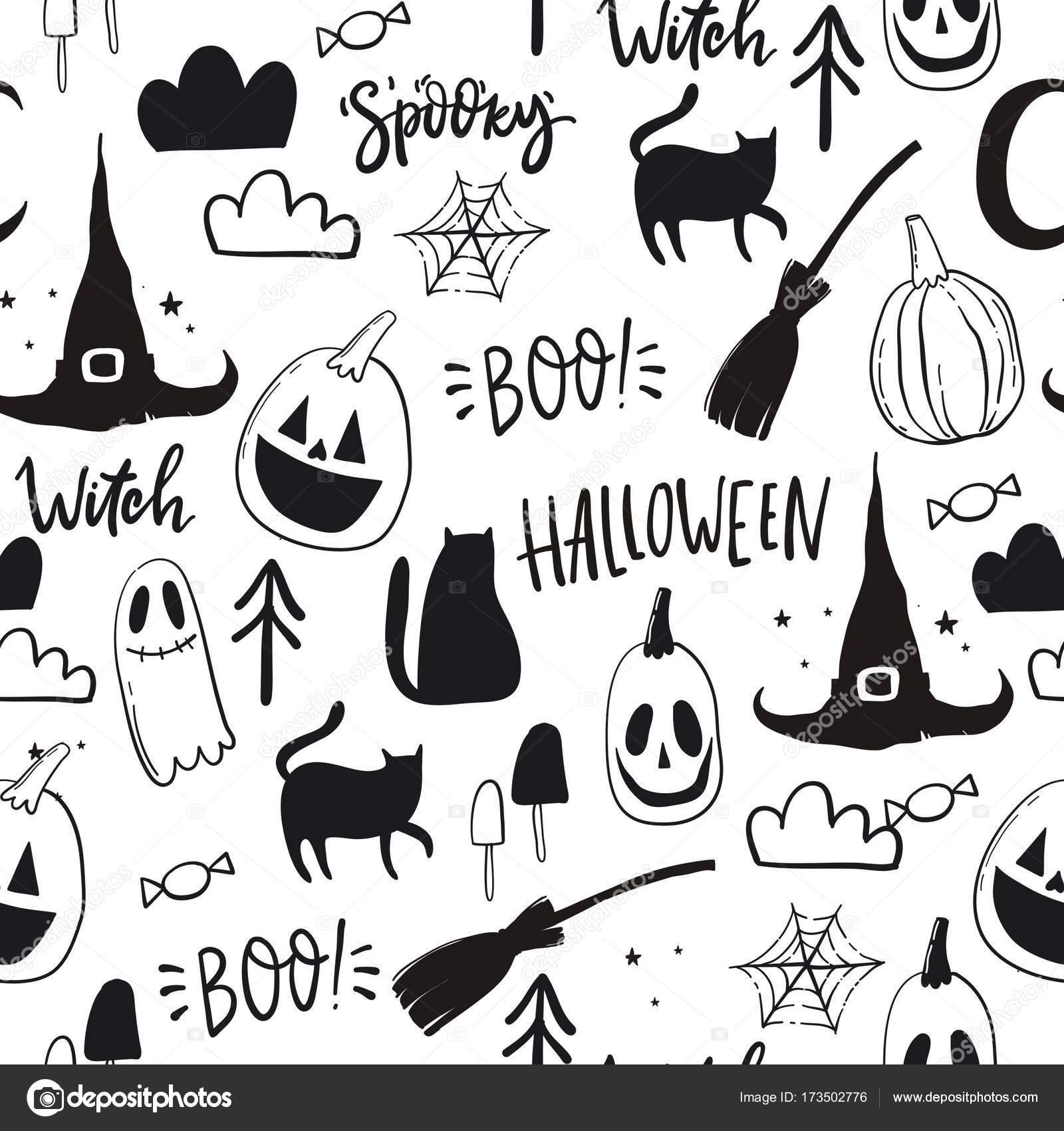 Happy Halloween Print Stock Vector C Webmuza 173502776