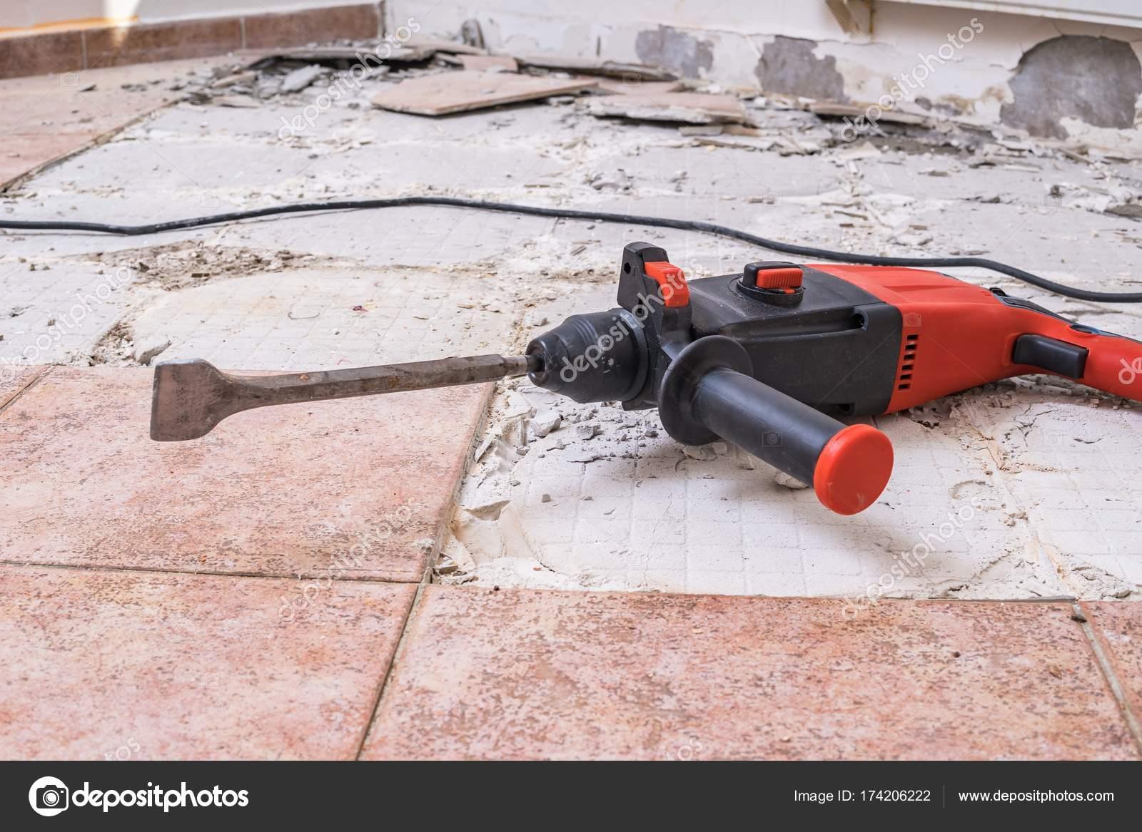 Quitar azulejos viejos Martillo perforador  perforacin