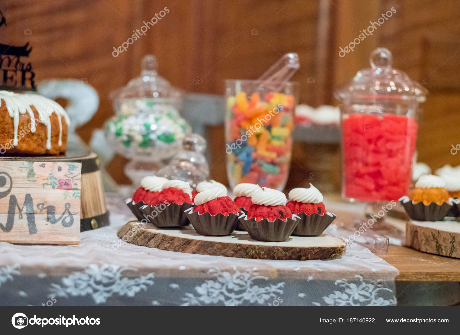 Bundt Cakes At Wedding Reception Stock Photo Joshuarainey 187140922
