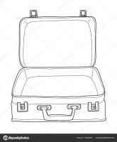Koffer Gepäck Vintage Hand gezeichnet niedlich Vektor ...