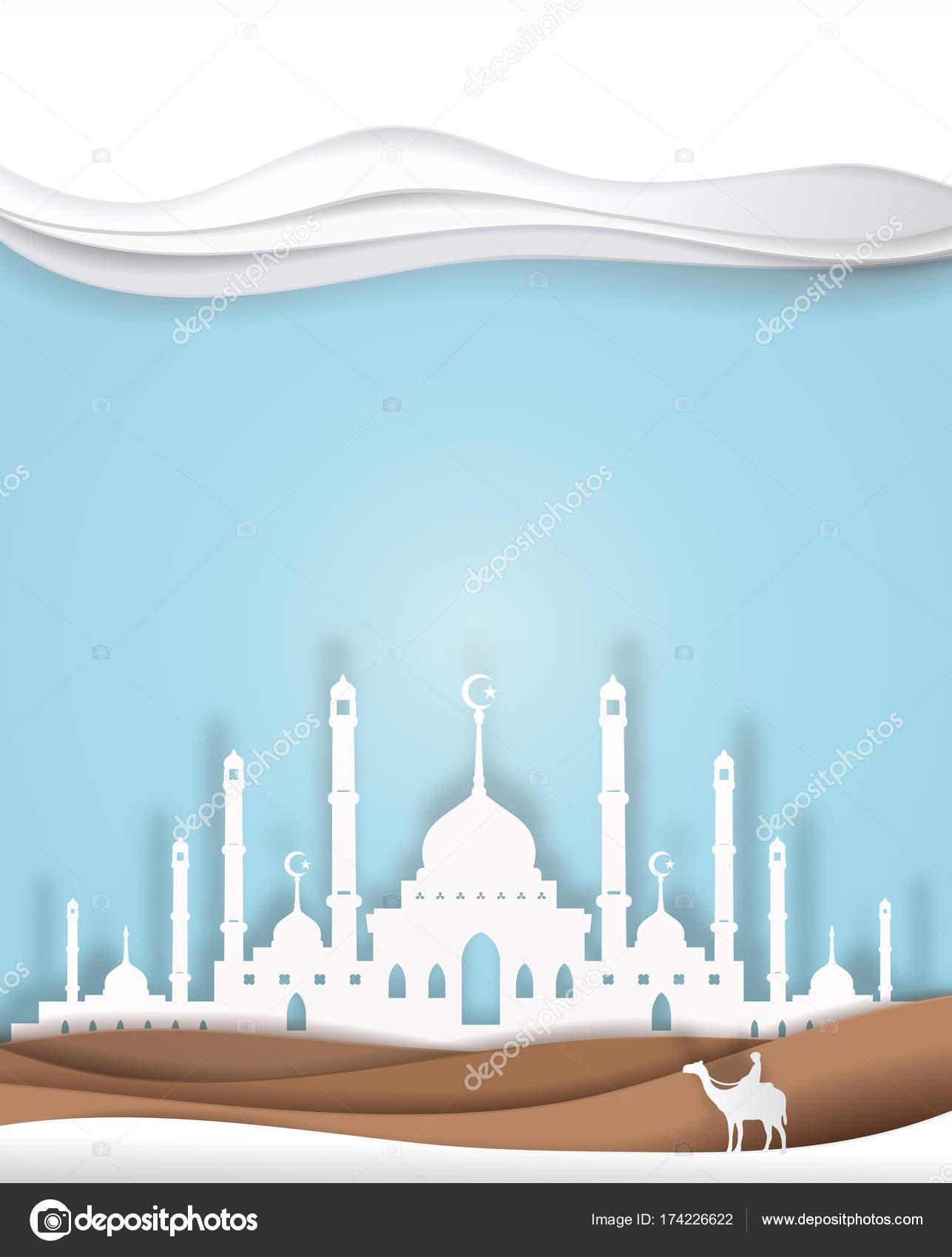Gambar Masjid Untuk Logo : gambar, masjid, untuk, Camel, Front, Masjid, Background, Vector, Paper, Image, Gmm2000, Stock, 174226622