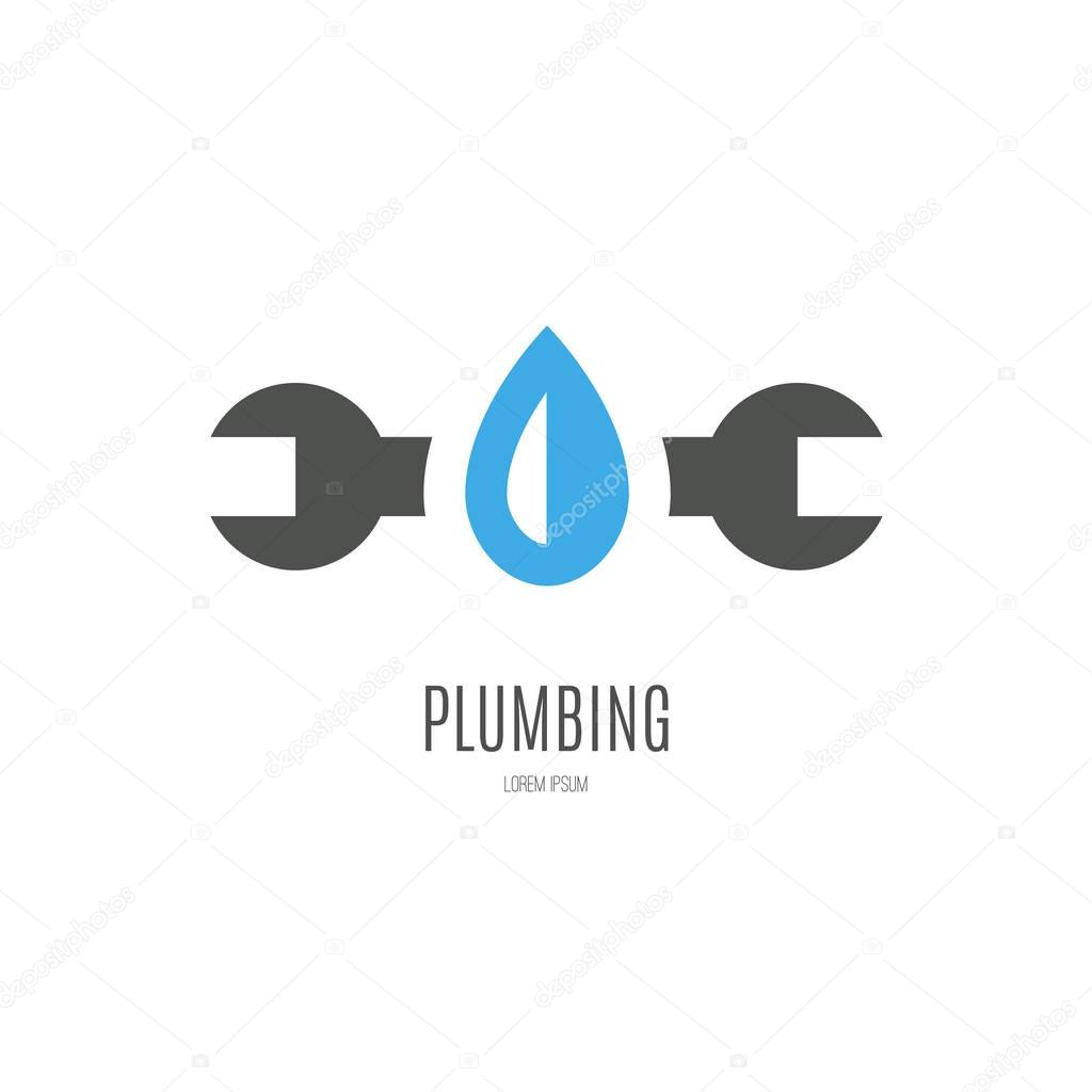 Modern Flat Style Logo For Plumber Or Handyman Plumbing Company House Repair Isolated And Easy To Use Company Symbol Premium Vector In Adobe Illustrator Ai Ai Format Encapsulated Postscript