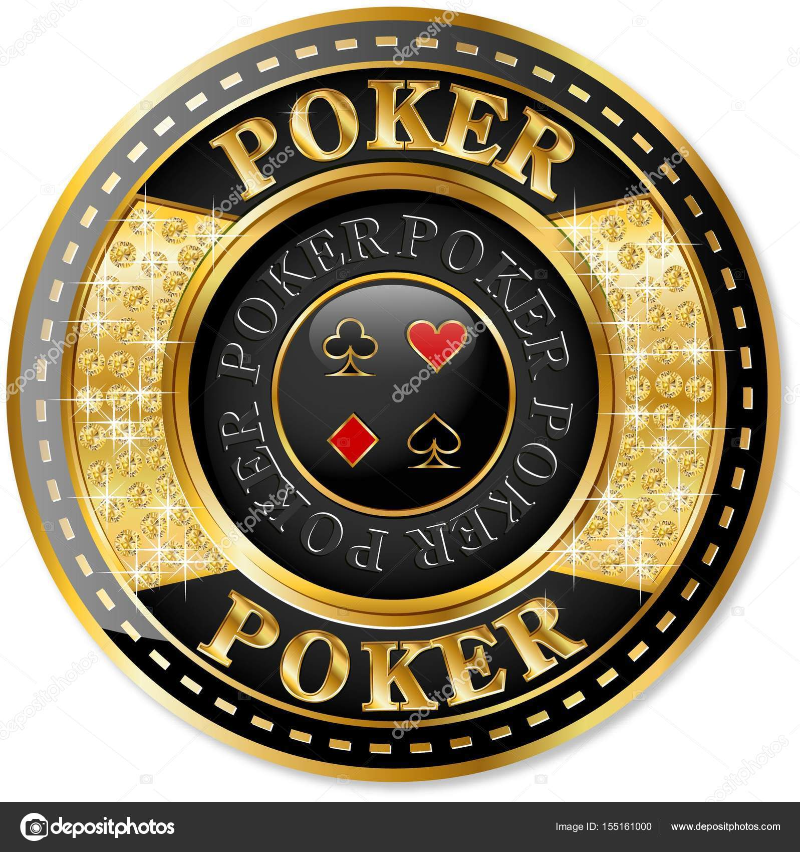 Golden poker chip icon — Stock Vector © ElenaBaryshkina #155161000