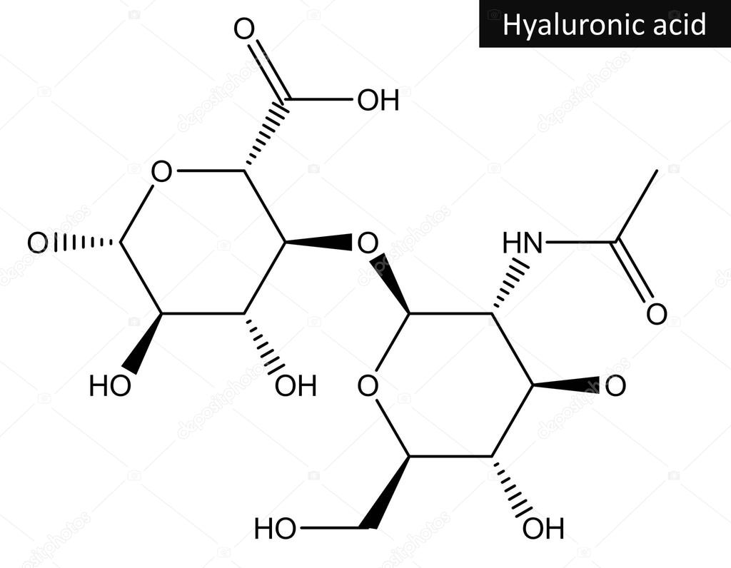 hight resolution of molecular structure of hyaluronic acid stock photo
