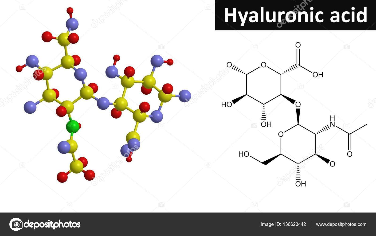 hight resolution of molecular structure of hyaluronic acid 3d rendering stock photo