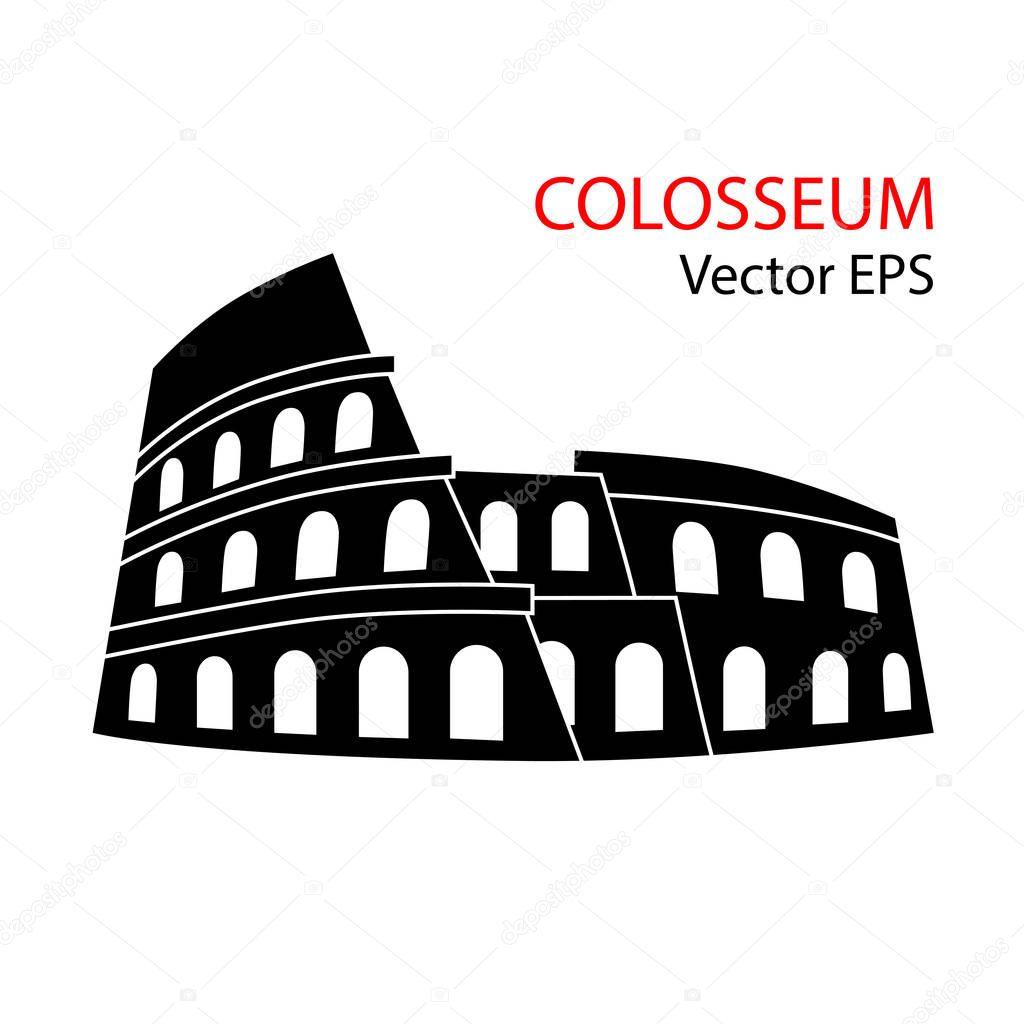 Vektor Illustration Von Colosseum Rom Italien Isoliert