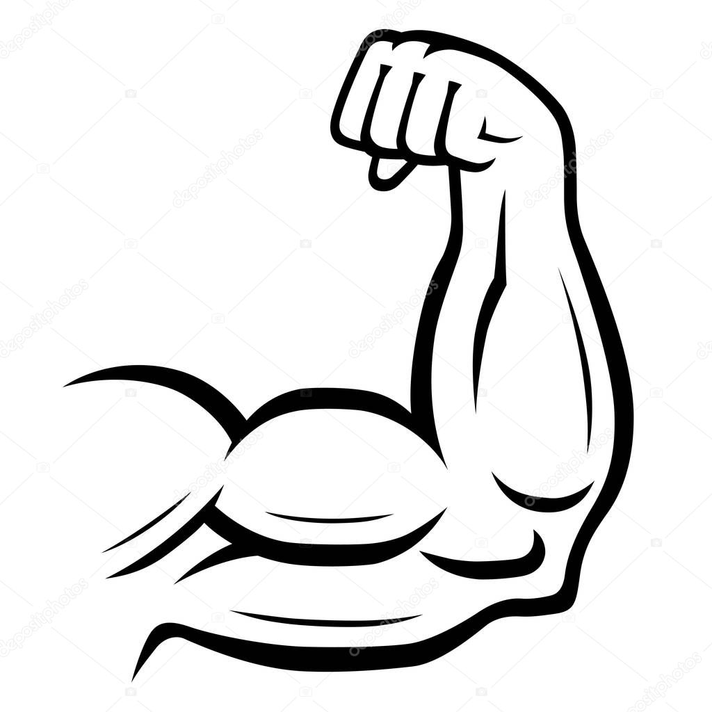 Icone De Vetor De Braco Forte Esporte Fitness Conceito