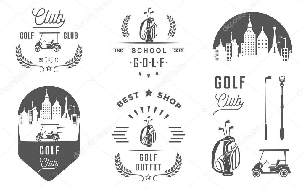 ゴルフのロゴ、ラベルとエンブレムのセット — ストックベクター © andrei45454 #149011263