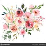 Watercolor Flowers Floral Bouquet Greeting Card Invitation Other Printing Design Stock Photo Image By C Maslovalarisa 337908050
