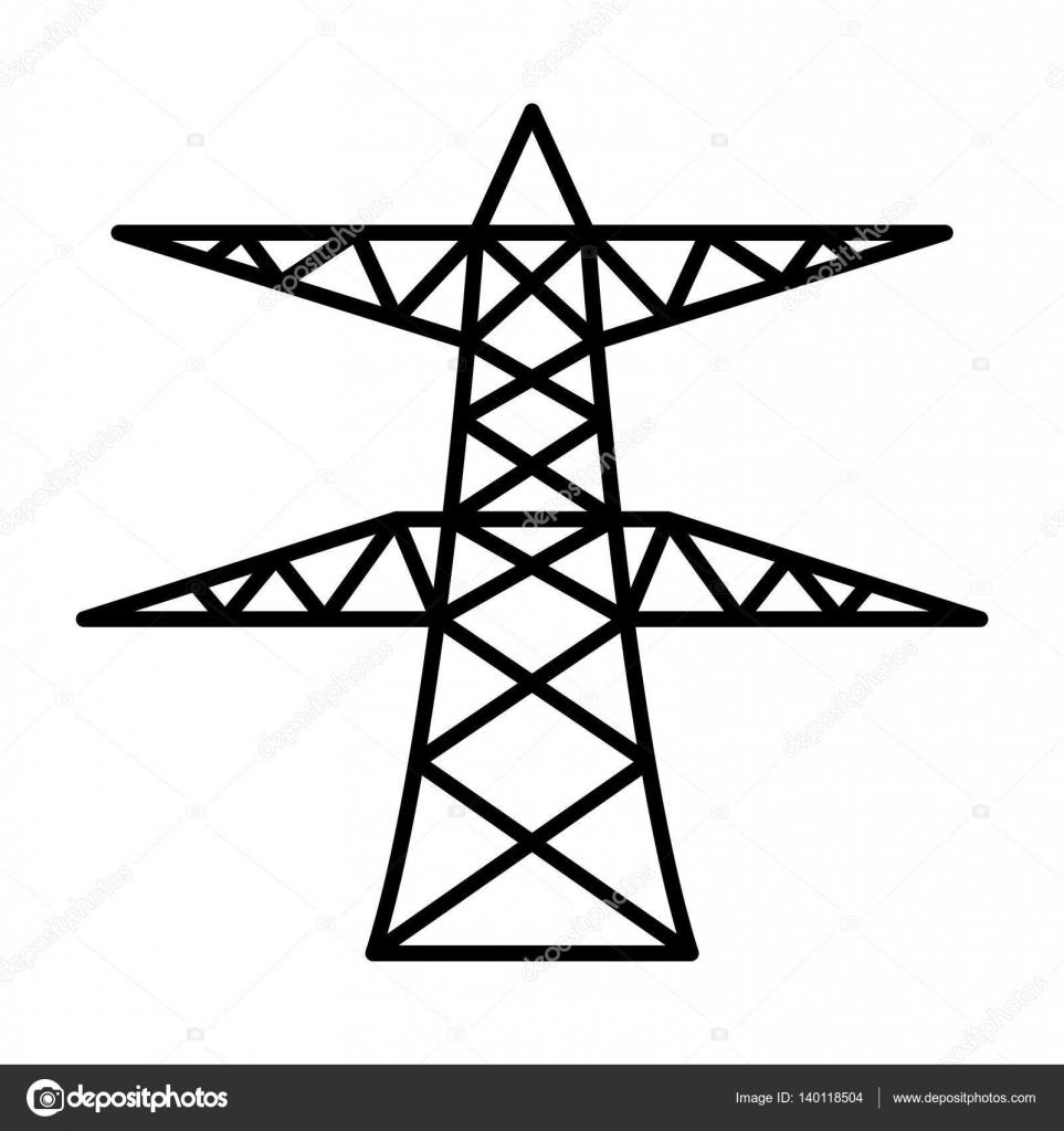 thin line power pole — Stock Vector © AngBay #140118504