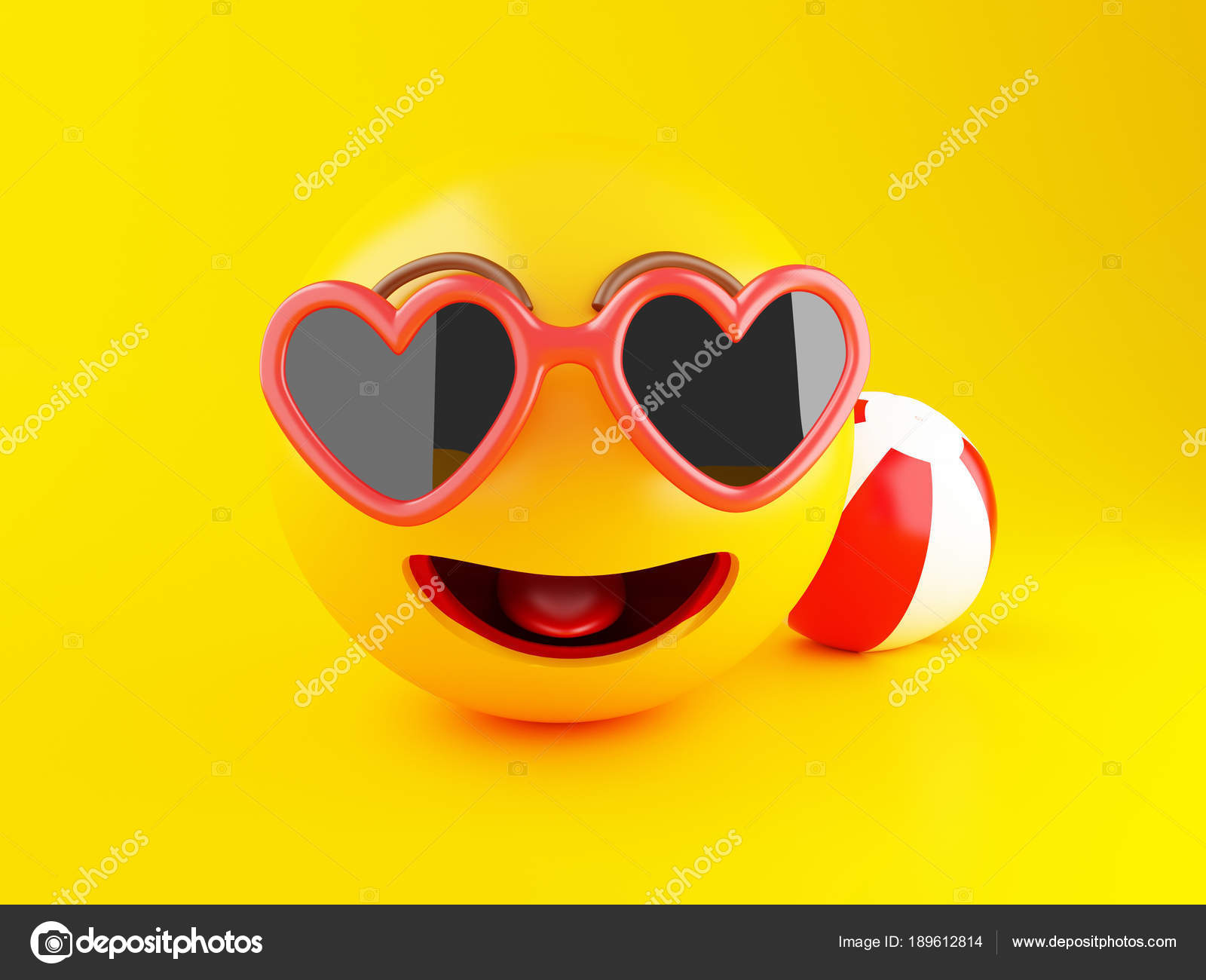 Images Vacation Emoji 3d Emoji With Sunglasses Summer Vacation Concept Stock Photo C Nicomenijes 189612814