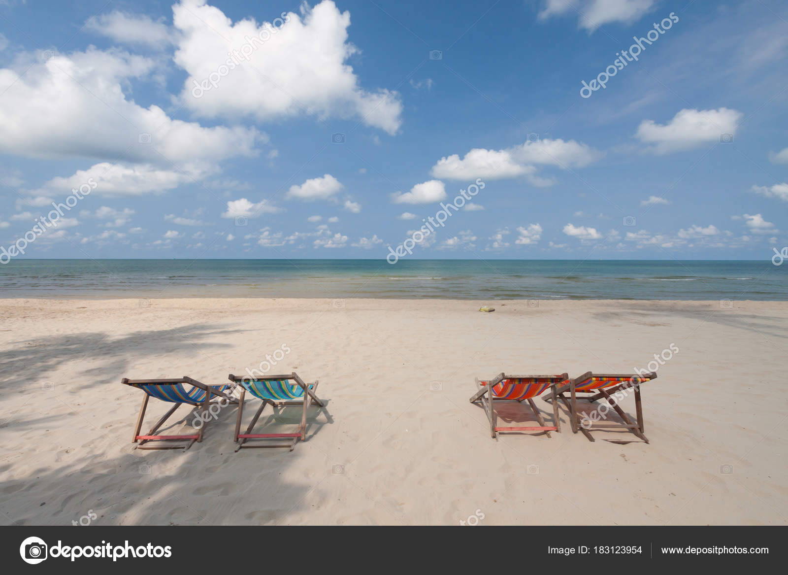 perfect beach chairs chair covers plastic on tropical white sand stock photo image