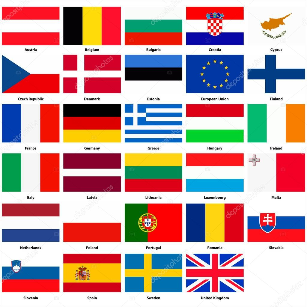Todas As Bandeiras Dos Paises Da Uniao Europeia