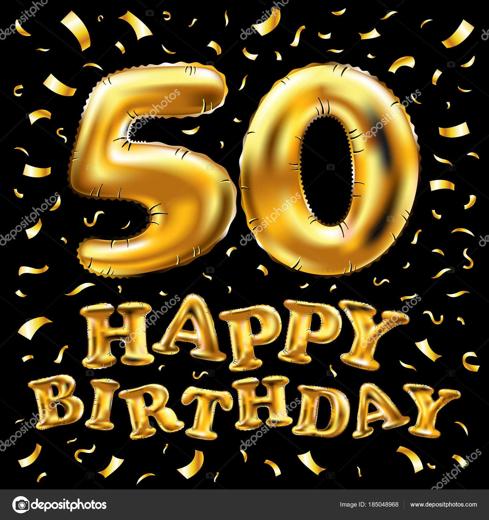 Vettore 50в Compleanno Vettore Di Buon Compleanno 50 в
