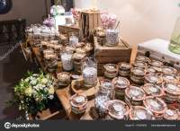 Elegant Wedding Candy Bar Table Catering Arrangement ...
