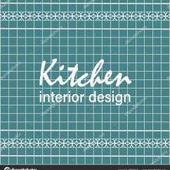 Navy Blue Kitchen Decor Shelf Organizers 文本厨房室内设计瓷砖设计sleel 蓝色方形瓷砖与装饰 图库矢量图像 图库矢量